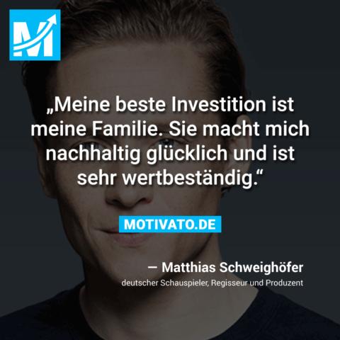 Meine beste Investition ist meine Familie. Sie macht mich nachhaltig glücklich und ist sehr wertbeständig.